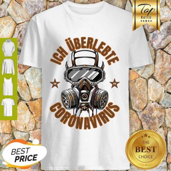 Official Ich Überlebte Coronavirus Covid 19 Shirt