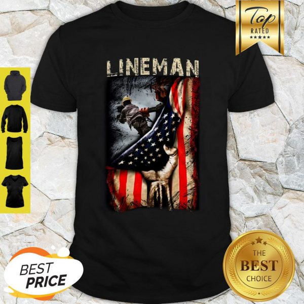 Official Lineman American Flag Shirt