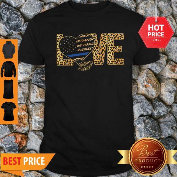 Official Love Leopard Thin Blue Line Lips Shirt