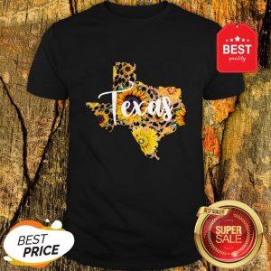 Official Texas Sunflower Wildflower State Map Shirt