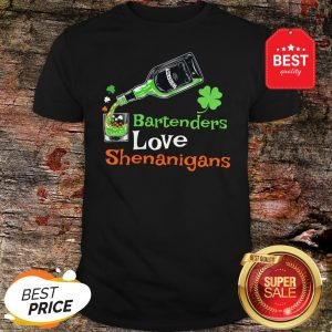 Official St Patricks Bartenders Love Shenanigans Gift Shirt