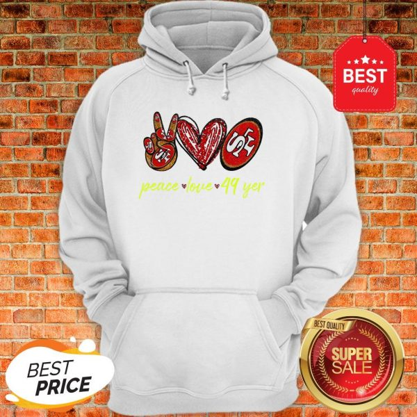 Official Peace Love San Francisco 49ers Hoodie