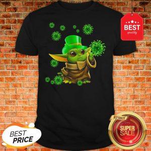 St Patrick's Day Baby Yoda Coronavirus Shirt
