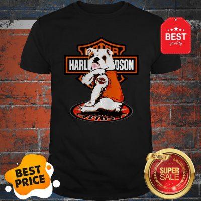 Official Bulldog Tattoo Motor Harley-Davidson Cycles Shirt