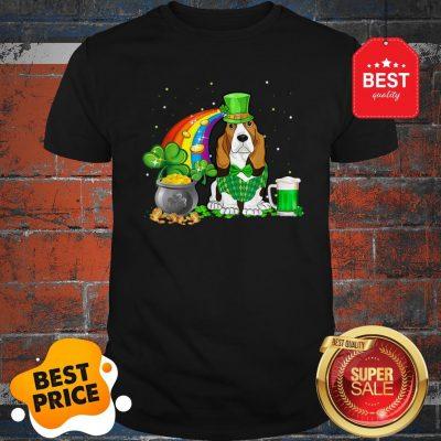 Top Beer Drinking Basset Hound Dog St Patricks Day Shirt