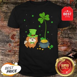 Shamrock Leprechaun Pomeranian St Patrick's Day Shirt