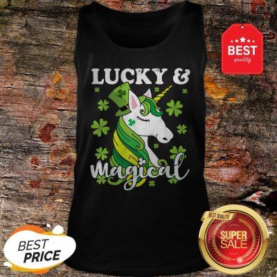 Unicorn Magical St Patricks Day Lepricorn Girl Women Costume Tank Top