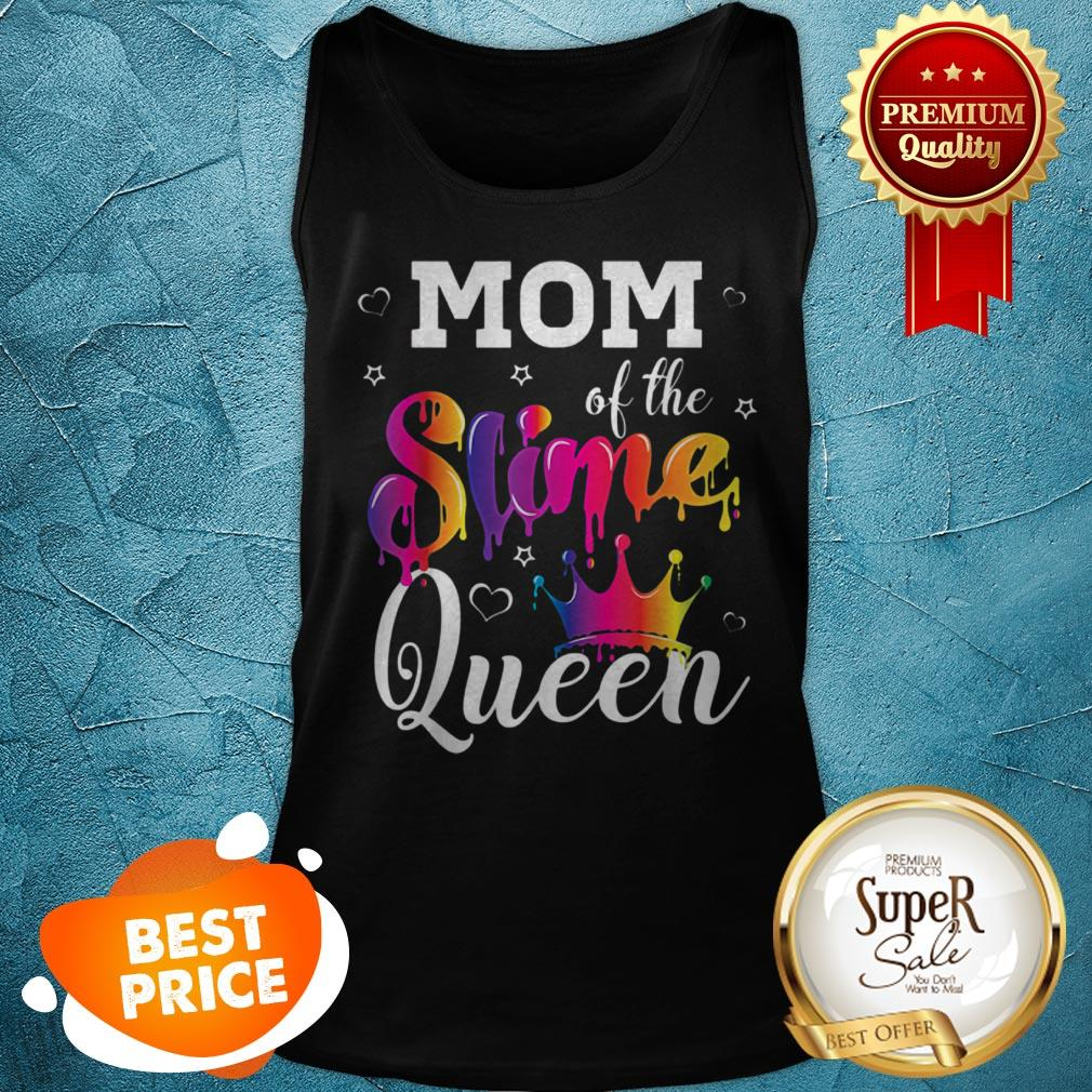 Pretty Mom Of The Slime Queen Crown Birthday Matching Party Outfit Tank Top