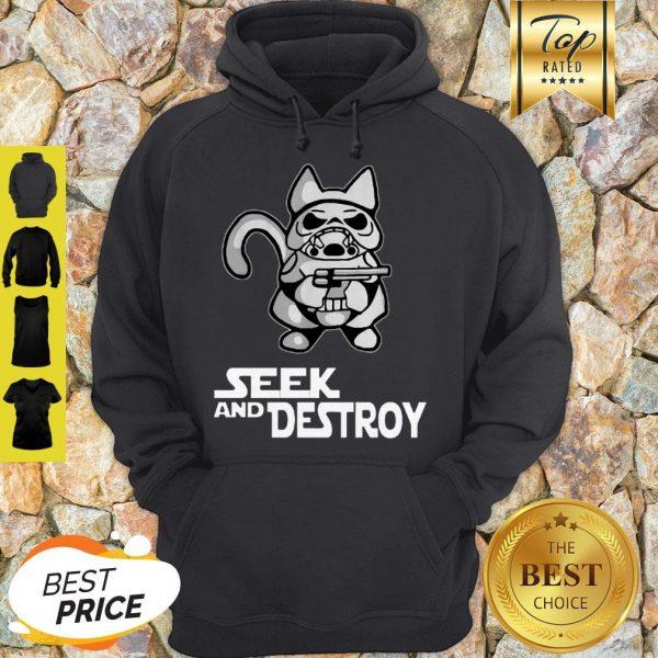 Official Stormtrooper Cat Seek And Destroy Hoodie