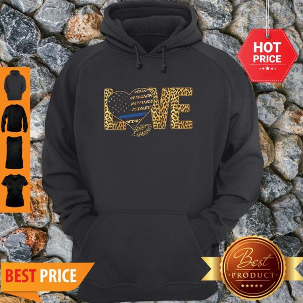 Official Love Leopard Thin Blue Line Lips Hoodie