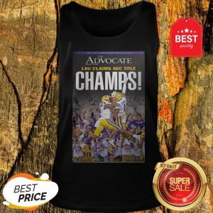Official The Advocate LSU Claims Sec Title Champions Tank Top