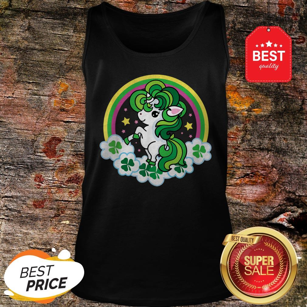 Official Unicorn St Patricks Day Irish Tank Top