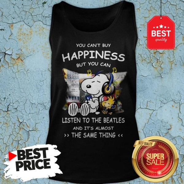 Snoopy You Can't Buy Happiness But You Can Listen To Pink Floyd Tank Top