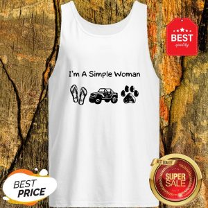 I'm A Simple Woman I Like Flip Flop Jeep And Dog Paw Tank Top