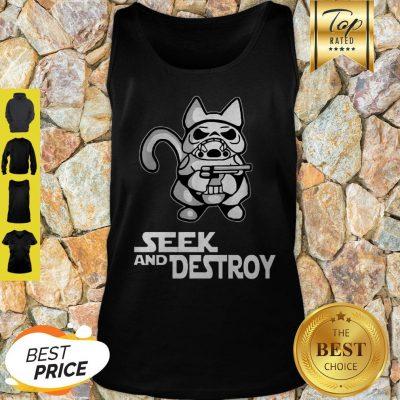 Official Stormtrooper Cat Seek And Destroy Tank Top