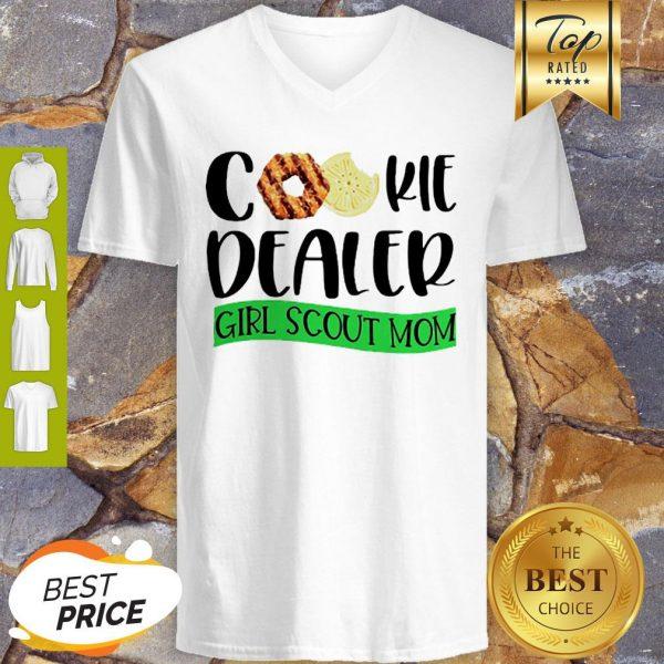 Official Cookie Dealer Girl Scout Mom V-Neck