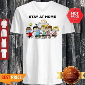 Official Peanuts Mask Stay At Home V-Neck