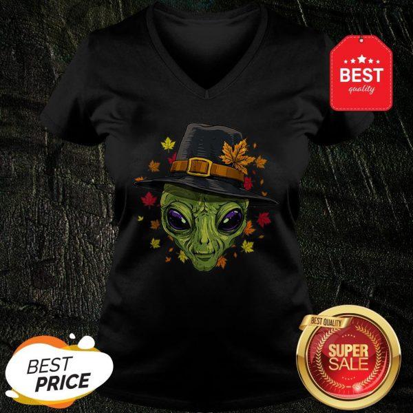 Pretty Thanksgiving Alien Pilgrim Costume Men Women V-Neck