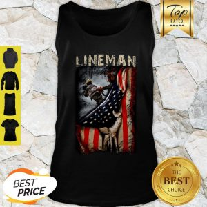 Official Lineman American Flag Tank Top