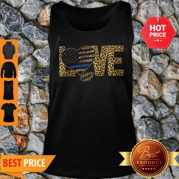 Official Love Leopard Thin Blue Line Lips Tank Top