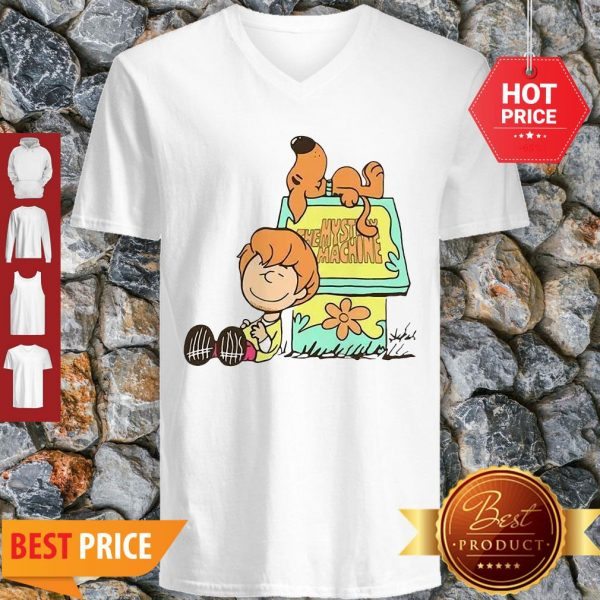 Scooby Doo And Shaggy Rogers The Mystery Machine V-Neck