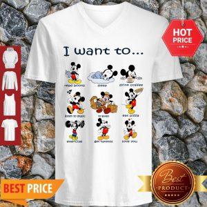 I Want To Do Everything Love You Disney Mickey V-Neck