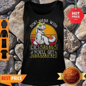 Official Jurasskicked Cici Saurus Dinosaur Mother Tank Top
