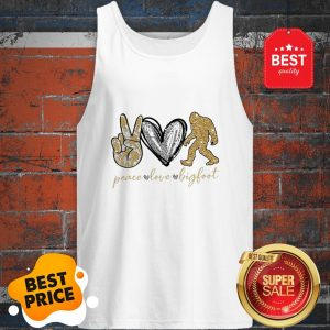 Official Peace Love Diamonds Bigfoot Tank Top