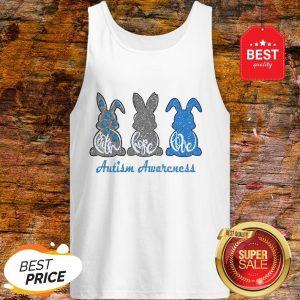 Rabbit Bunny Faith Hope Love Autism Awareness Tank Top