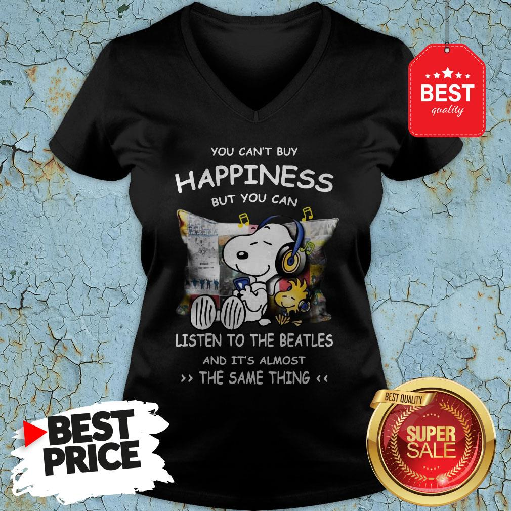 Snoopy You Can't Buy Happiness But You Can Listen To Pink Floyd V-Neck