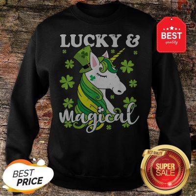 Unicorn Magical St Patricks Day Lepricorn Girl Women Costume Sweatshirt
