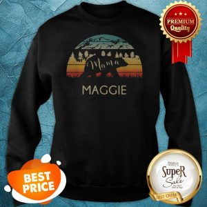 Original Maggie Name Gift Retro Sun Personalized Mama Bear Sweatshirt