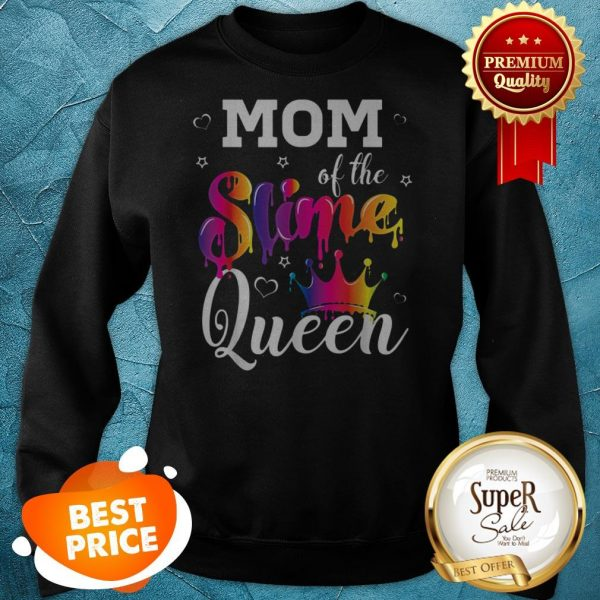 Pretty Mom Of The Slime Queen Crown Birthday Matching Party Outfit Sweatshirt