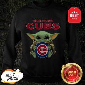 Official Baby Yoda Hug Chicago Cubs Sweatshirt
