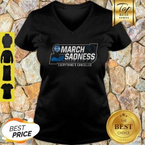 Toilet Paper March Sadness Everythings Cancelled Corona 2020 V-Neck