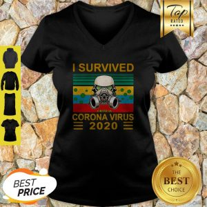 Top Stormtrooper I Survived Covid-19 Coronavirus 2020 Vintage V-Neck