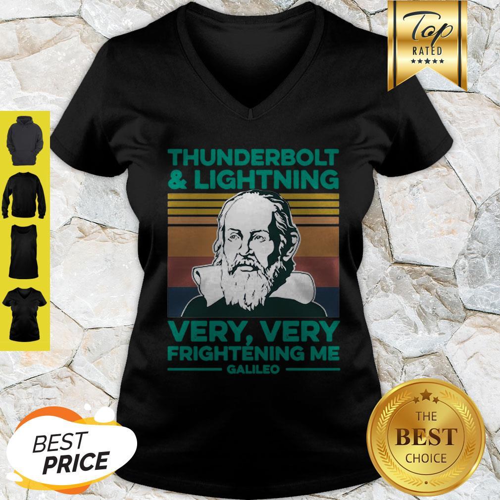 Thunderbolt And Lightning Very Very Frightening Me Galileo Galilei V-Neck