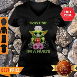 Official Star Wars Baby Yoda Trust Me I'm A Nurse V-Neck