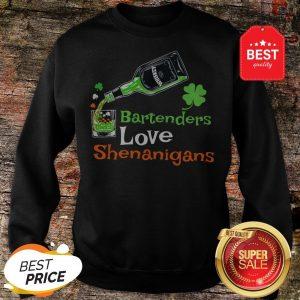 Official St Patricks Bartenders Love Shenanigans Gift Sweatshirt