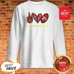 Official Peace Love San Francisco 49ers Sweatshirt
