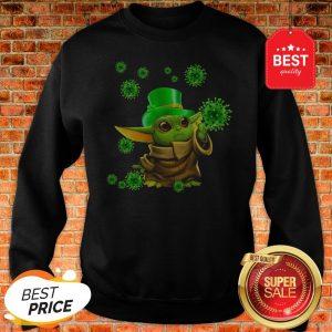 St Patrick's Day Baby Yoda Coronavirus Sweatshirt