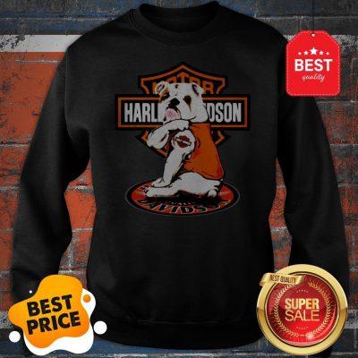 Official Bulldog Tattoo Motor Harley-Davidson Cycles Sweatshirt