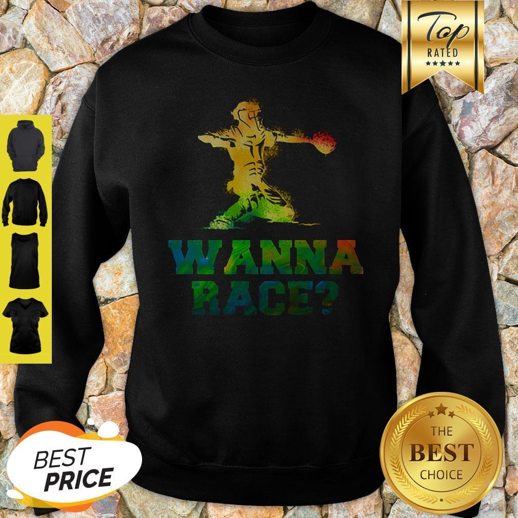 Official Baseball Catcher Wanna Race Sweatshirt