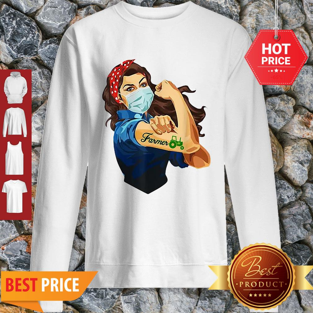 Official Strong Girl Tattoos Farmer Coronavirus Sweatshirt