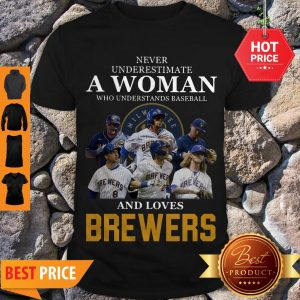 Never Underestimate A Woman Who Understands Baseball And Loves Brewers Shirt