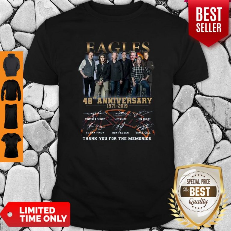 Eagles 49th Anniversary 1971 2020 Signature Thank You For The Memories Shirt