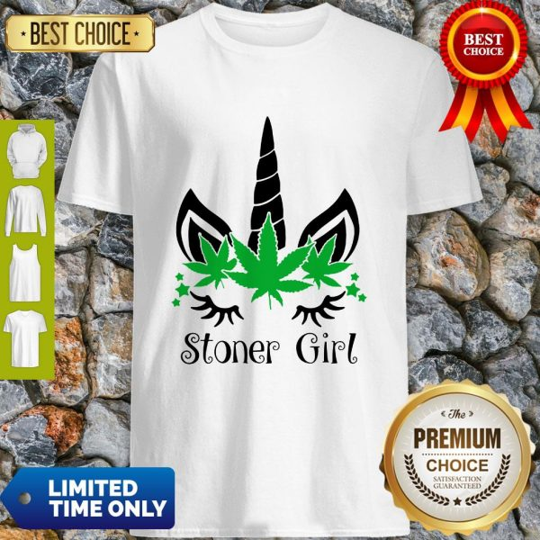 Unicorn Cannabis Marijuana Stoner Girl Shirt