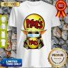 Star Wars Baby Yoda Mask Hug Moe's Southwest Grill COVID-19 Shirt