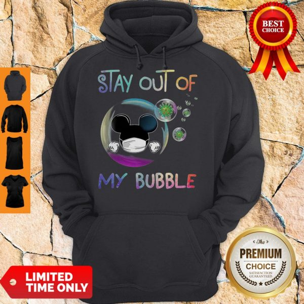 Mickey Mouse Mask Stay Out Of My Bubble Coronavirus Hoodie
