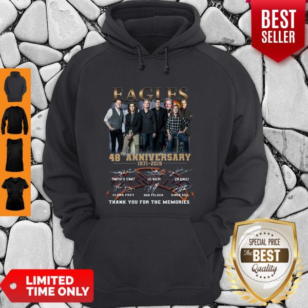Eagles 49th Anniversary 1971 2020 Signature Thank You For The Memories Hoodie